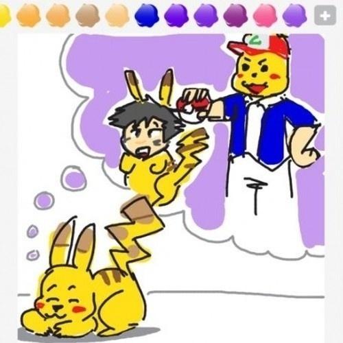 """Pikachu sonha com uma inversão de papéis nesse desenho de """"Draw Something"""""""