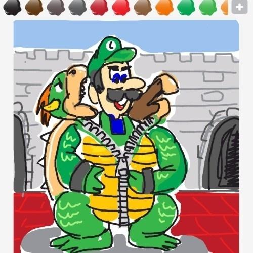 """Será esse o segredo de Luigi, irmão de Mario? Seja como for, o intuito desse usuário de """"Draw Something"""" era falar sobre """"zipper"""""""