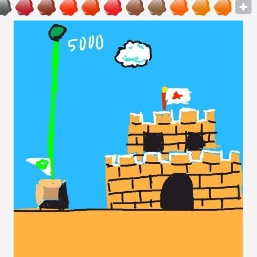 """Um dos castelos mais famosos dos games - o de """"Super Mario Bros."""", pois, sim - foi usado para transmitir """"castle"""""""