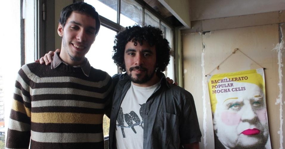 Agustin Fuchs e Francisco Quiñones, coordenadores e professores da Mocha Celis