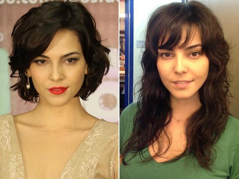 Maio: A atriz Tainá Muller alongou os cabelos para viver a personagem Liara na novela