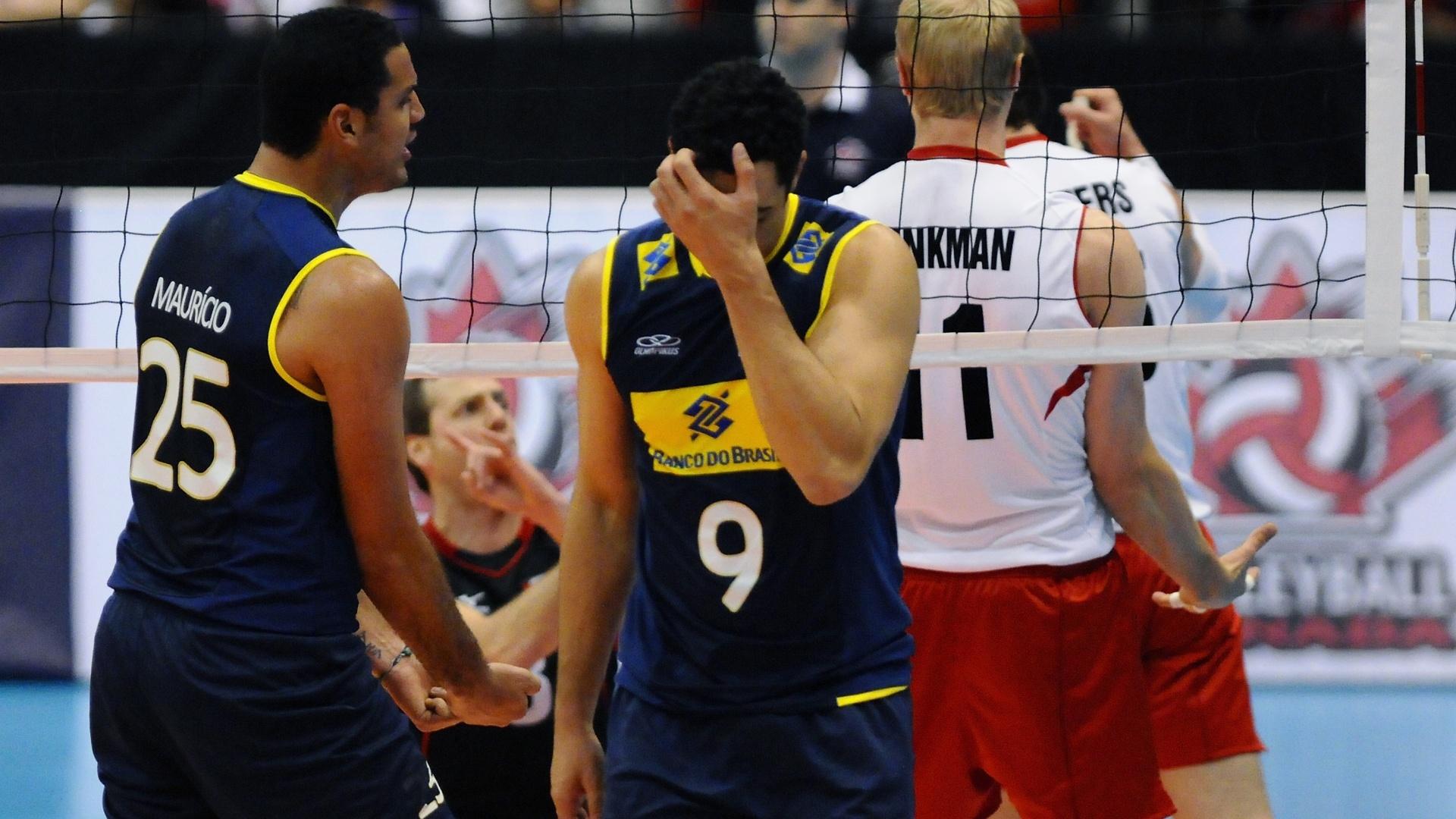 Maurício e Theo lamentam ponto do Canadá em jogo da Liga Mundial