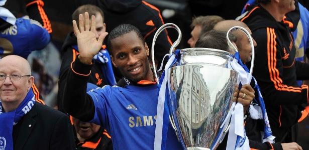 Drogba foi o herói do Chelsea na conquista da Liga dos Campeões da Europa 2011/12