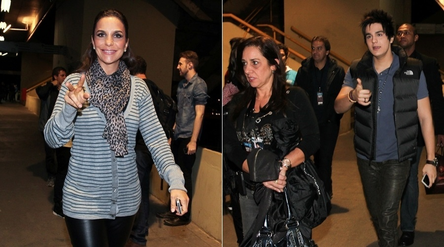 Ivete Sangalo e Luan Santana chegam na Arena Anhembi, S&#227;o Paulo, para show (20/5/12)