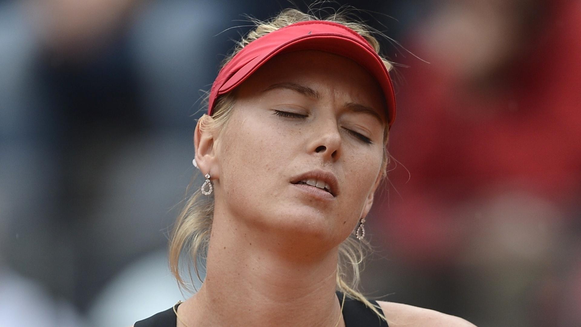 Maria Sharapova lamenta erro em partida contra Na Li, final do Torneio de Roma