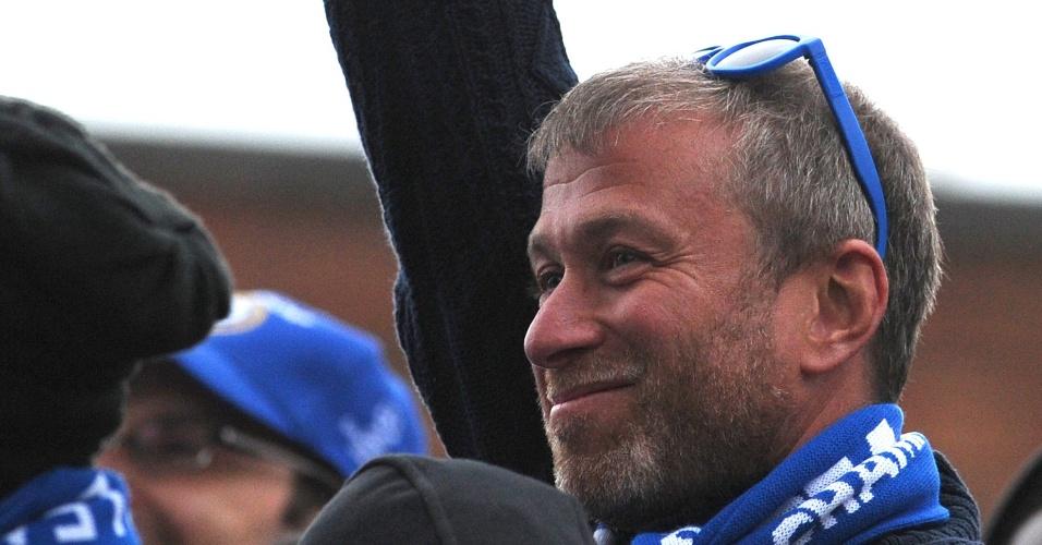 O russo Roman Abramovich, dono do Chelsea, também participou das comemorações pelo título da Liga dos Campeões