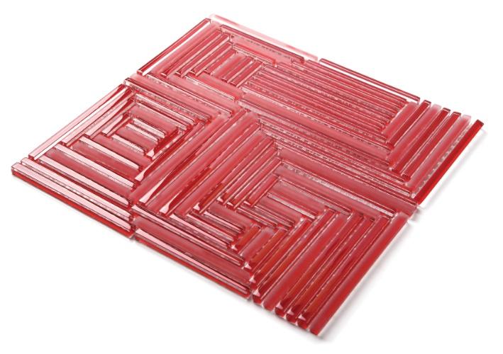 Da linha Glass, a pastilha da Everstone Brasil é feita de vidro, com acabamento polido e fosco