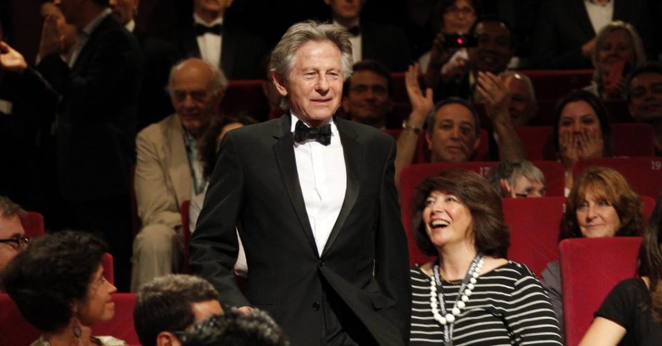 """O diretor Roman Polanski durante apresentação do documentário """"Um Dia Especial"""", de Gilles Jacob, no Festival de Cannes 2012 (21/5/12)"""