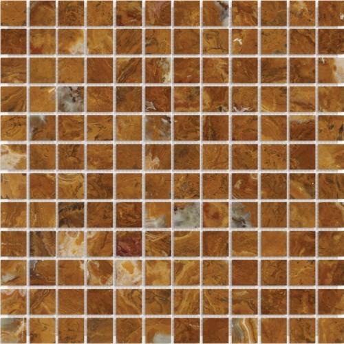 Recomendada para uso em paredes internas e externas, a pastilha da Mosarte é fabricada com ônix