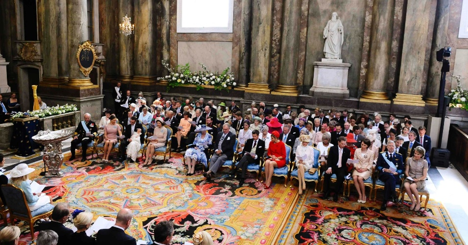 22.mai.2012 - Vista da Igreja do Palácio Real de Estocolmo onde foi realizada nesta terça-feira a cerimônia de batismo da princesa Estela, filha da princesa herdeira Victoria da Suécia
