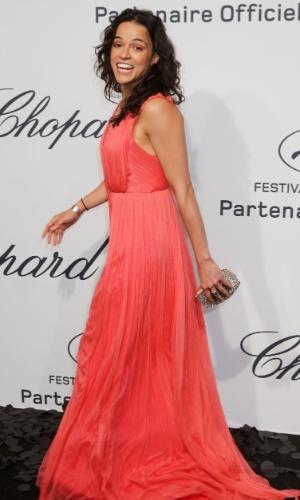 """A atriz Michelle Rodriguez vai à festa """"Mistery Party"""", que acontece durante o Festival de Cannes (21/5/12)"""