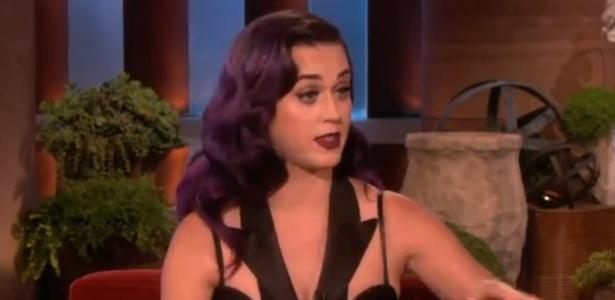 A cantora Katy Perry em entrevista ao programa