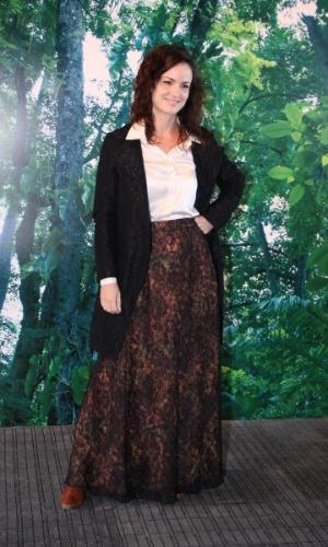 Carolina Kasting prestigia a edição Verão 2013 do Fashion Rio (22/5/12). O evento de moda acontece no Jockey Club, zona sul do Rio