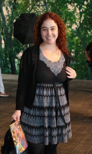 Débora Lamm prestigia a edição Verão 2013 do Fashion Rio (22/5/12). O evento de moda acontece no Jockey Club, zona sul do Rio