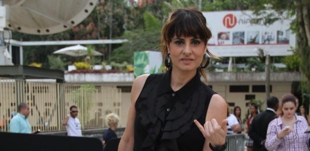 Fernanda Abreu prestigia a edição Verão 2013 do Fashion Rio (22/5/12). O evento de moda acontece no Jockey Club, zona sul do Rio