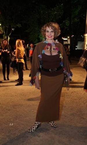Íris Bruzzi prestigia a edição Verão 2013 do Fashion Rio (22/5/12). O evento de moda acontece no Jockey Club, zona sul do Rio