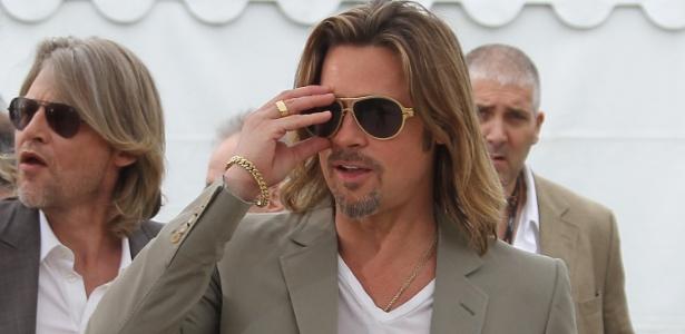 O ator Brad Pitt durante apresentação do filme Killing them Softly, que está na competição oficial do Festival de Cannes 2012 (22/5/12)