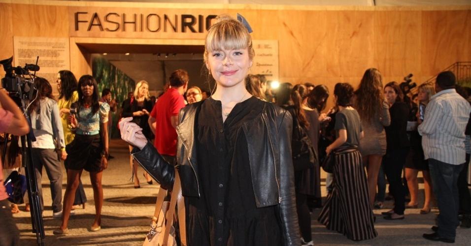 Vitória Frate prestigia a edição Verão 2013 do Fashion Rio (22/5/12). O evento de moda acontece no Jockey Club, zona sul do Rio