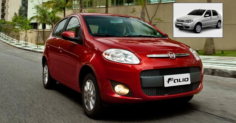 3º lugar: Fiat Palio -- Novo Palio Attractive 1.0: R$ 28.440 (era R$ 31.290); Fire 1.0: R$ 23.290 (era R$ 25.790)