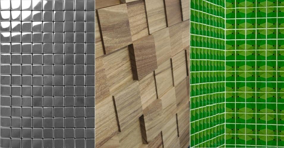 Feitas de materiais como cerâmica, madeira, vidro e até aço inox, o UOL selecionou diferentes tipos de pastilhas de revestimento para ambientes internos e externos; confira