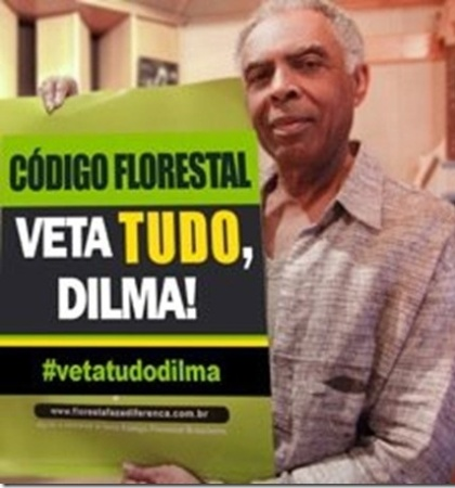 Gilberto Gil tamb&#233;m aderiu &#224; campanha