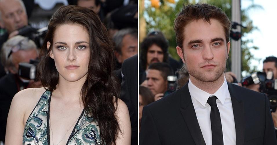 O casal de namorados Kristen Stewart e Robert Pattinson passa em momentos diferentes pelo tapete vermelho do filme