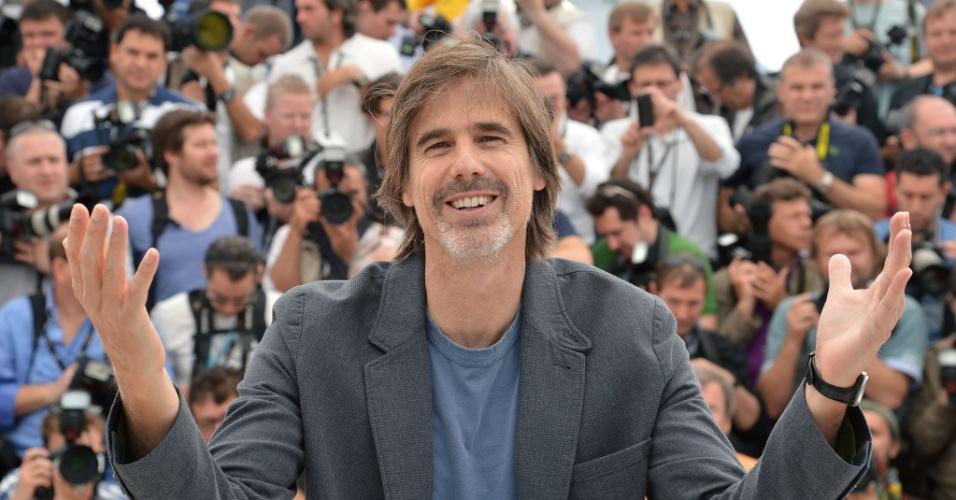 """O diretor brasileiro Walter Salles na  apresentação do filme """"Na Estrada"""" no Festival de Cannes 2012 (23/5/12)"""