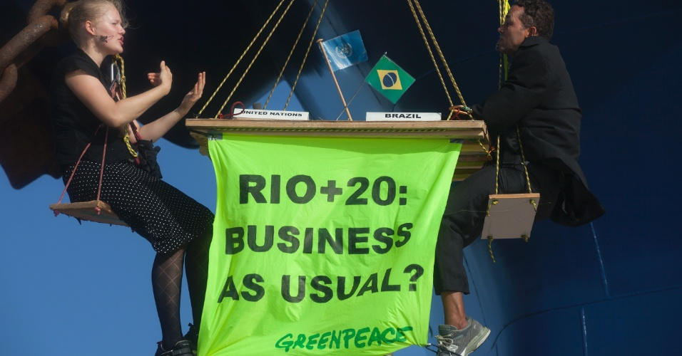 Protesto do Greenpeace no Maranh&#227;o menciona Rio+20