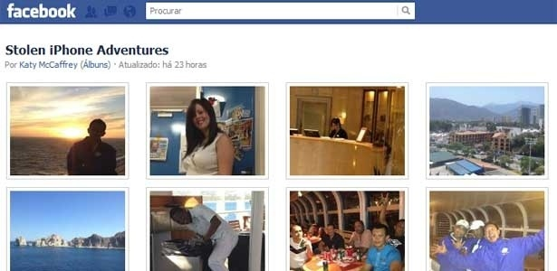 Álbum com fotos tiradas pelo suspeito aparecem no álbum ´´Aventuras de um iPhone roubado´´