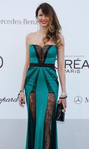 A apresentadora Luciana Gimenez chega a evento em benefício da luta contra a Aids durante o Festival de Cannes 2012 (24/5/12)