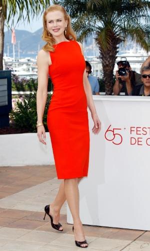 """A atriz Nicole Kidman apresenta o filme """"The Paperboy"""", no Festival de Cannes 2012, no qual interpreta a charmossa Charlotte Bless (24/5/12)"""