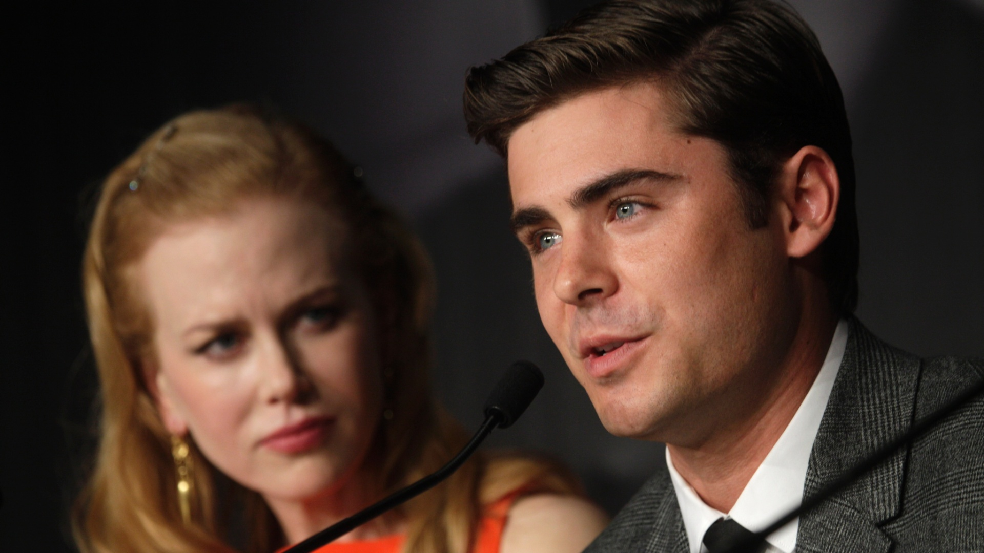 Zac Efron e Nicole Kidman na coletiva de imprensa de