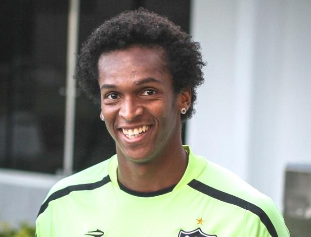 Atacante Jô durante sua apresentação no Atlético-MG (23/5/2012)