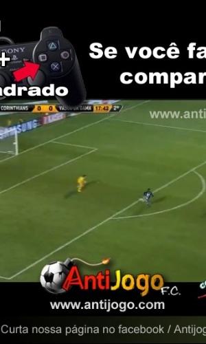 Corneta FC: Torcedores encontram solução para gol perdido por Diego Souza