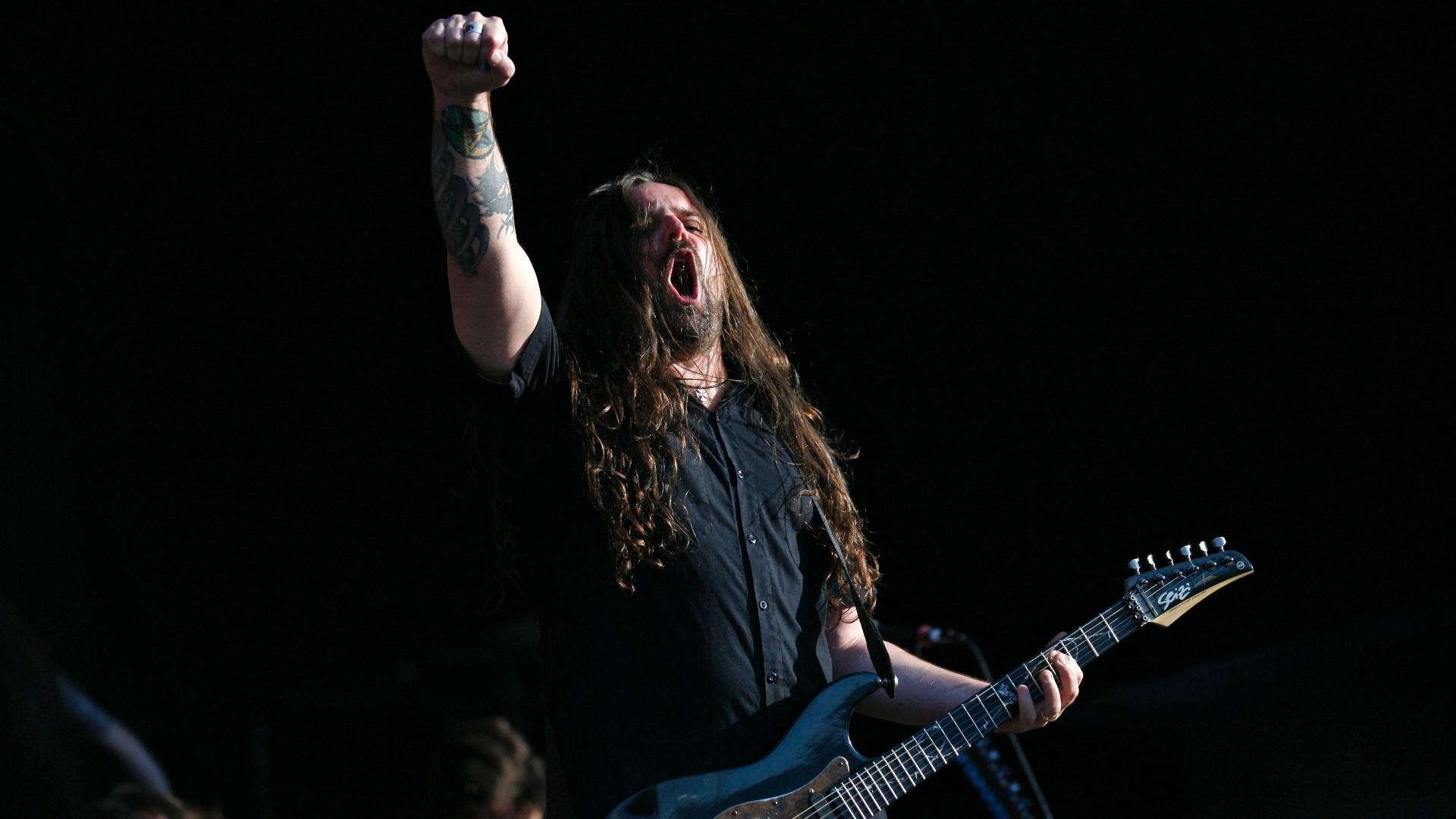 Andreas Kisser se apresenta com o Sepultura no Rock In Rio Lisboa (25/5/12)