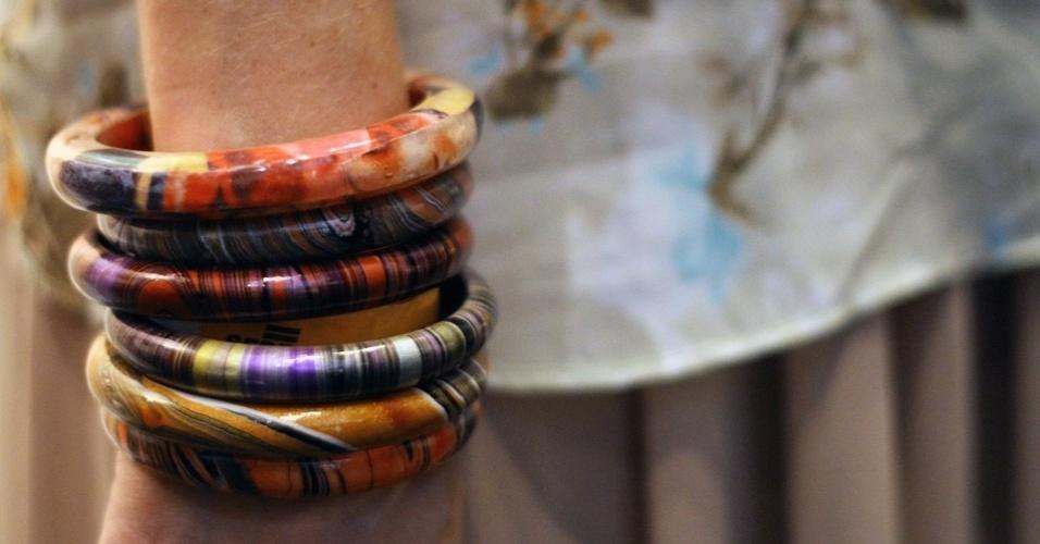 As pulseiras de Daniely são de Bali