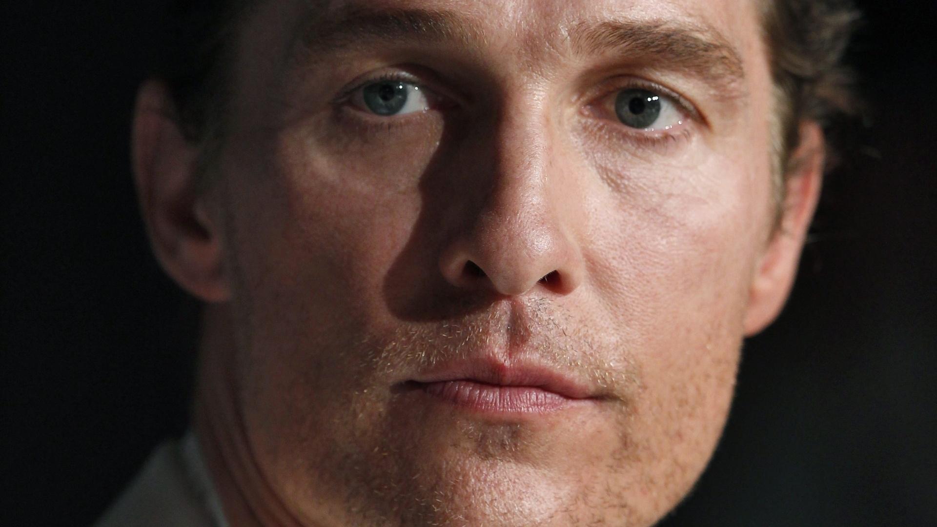 O ator Mathew McCounaughey durante entrevista a jornalistas em Cannes para falar do filme