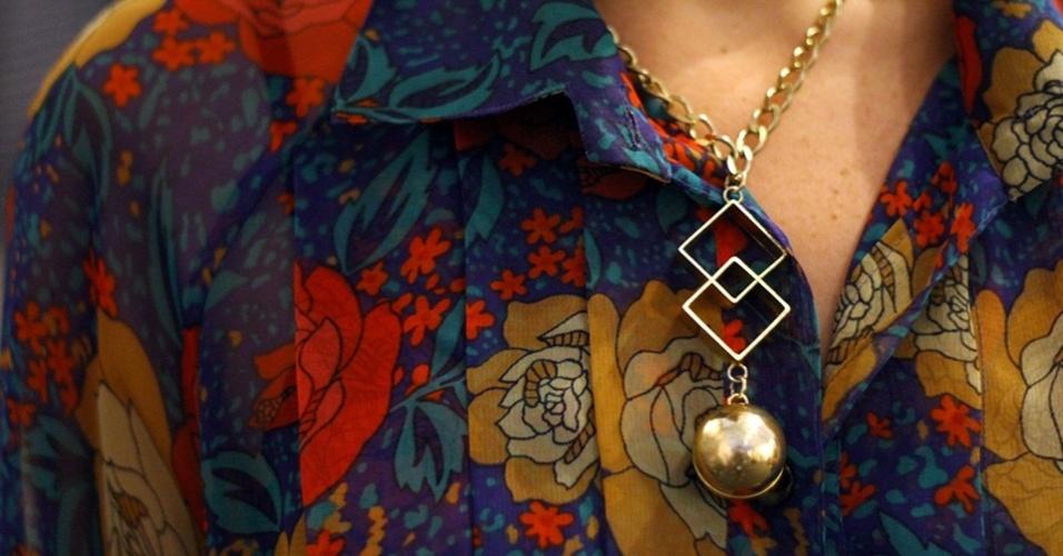 O colar de Pope é de uma marca portenha (25/05/2012)