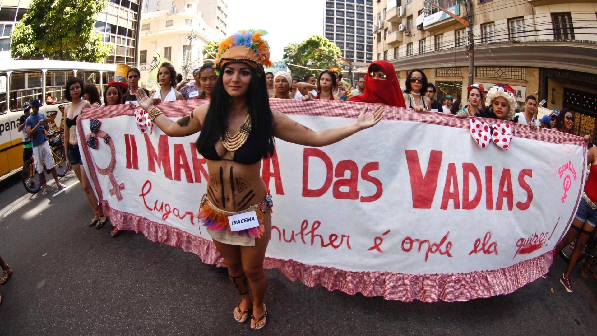 27.mai.2012 - Marcha das Vadias realizada em Belem, no Par