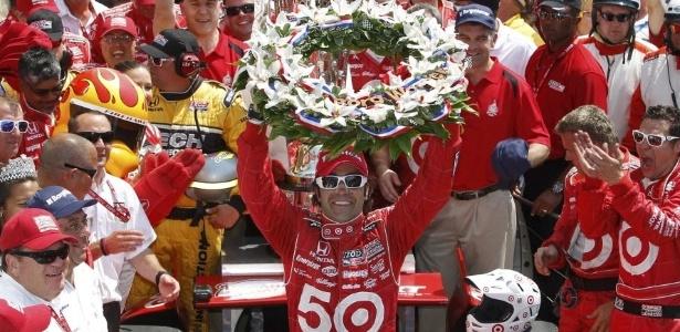 Dario Franchitti, da Chip Ganassi, venceu as 500 milhas de Indianápolis pela terceira vez