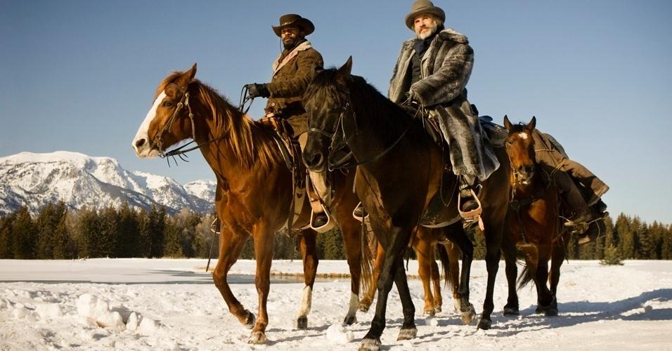 A nova produção de Tarantino se passa nos Estados Unidos do século 19, dois anos antes da Guerra Civil. Jamie Foxx é Django, um escravo cuja história brutal com seus antigos proprietários o leva a conhecer o caçador de recompensas alemão Dr. King Schultz (Waltz)