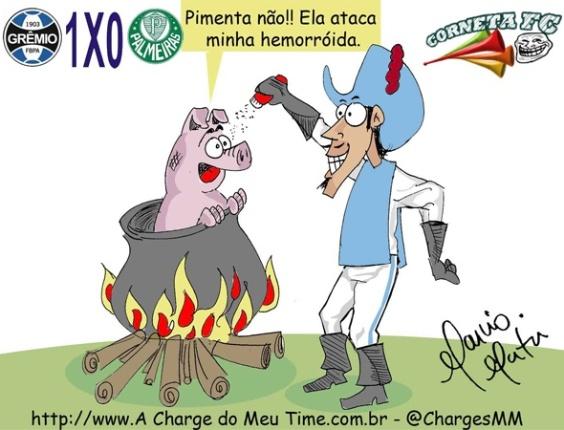 Corneta FC: Grêmio vence e mascote do Palmeiras vira prato principal