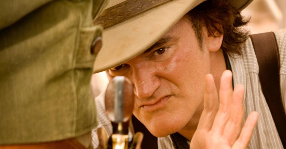 """O ator Don Johnson em cena de """"Django Livre"""", de Quentin Tarantino. O filme estreia no Brasil em 18 de janeiro de 2013"""