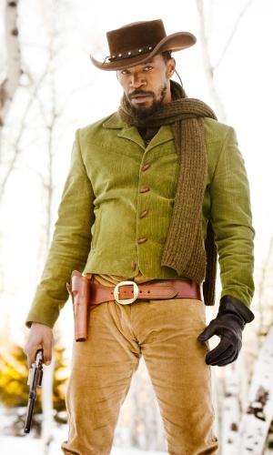 """O escravo Django (Jamie Foxx) em cena de """"Django Livre"""", de Quentin Tarantino. O filme estreia no Brasil em 18 de janeiro de 2013"""