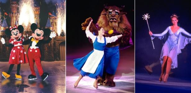 Cenas do espet�culo Disney On Ice 100 Anos de Magia, que chega ao Brasil nesta quarta-feira (30)