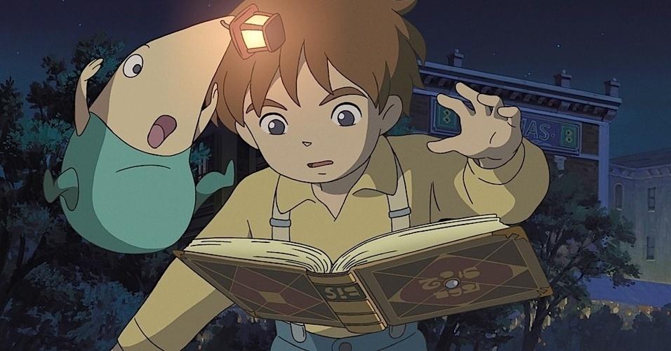 """Com traços do estúdio de """"A Viagem de Chihiro"""", """"Ninokuni: Another World"""" promete aventura cheia de magia para PlayStation 3"""