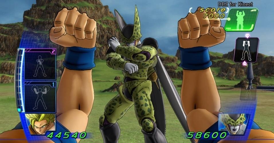 """Dragon Ball Z Kinect"" dá a chance de encarnar um guerreiro super poderoso: é só imitar os comandos na tela"