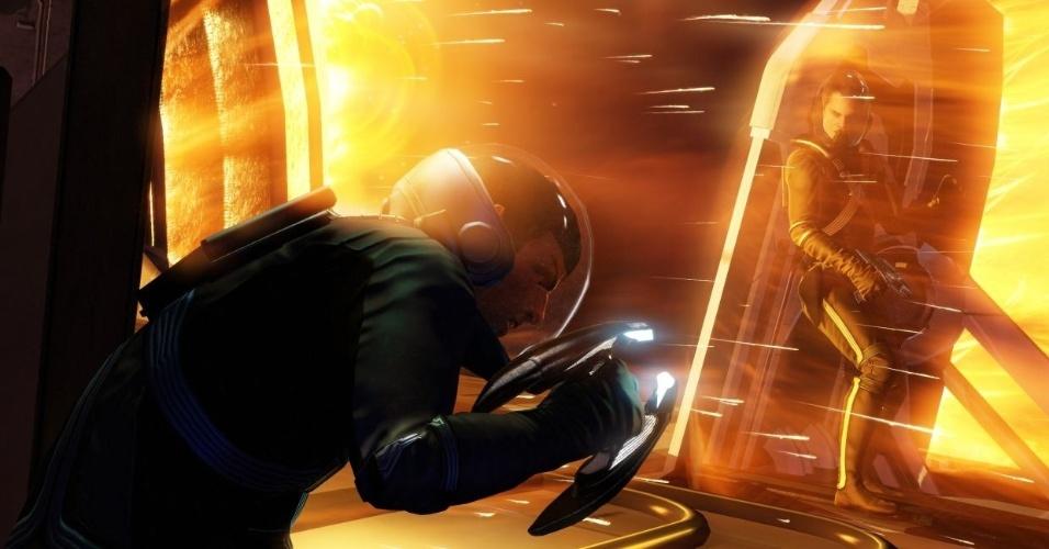 """Inspirado no filme de JJ Abrahams (de """"Lost"""" e """"Fringe""""), """"Star Trek"""" é jogo de ação com capitão Kirk e Spock"""