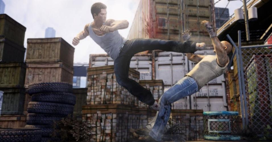 """Jogadores enfrentam a máfia oriental em """"Sleeping Dogs"""", game de pancadaria para PS3, X360 e PC"""