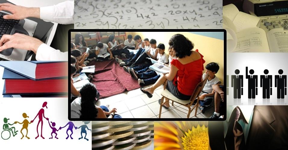 Montagem sobre cursos a distância com maior número de matrículas, segundo Censo Escolar.